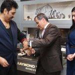 Oliver Bernheim felicitated actress Amyra Dastur and singer Kumar Sanu at Raymond Weil Store