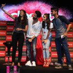 Alia Bhatt and Shahid Kapoor at Close Up First Move Party for film 'Shaandaar' promotions