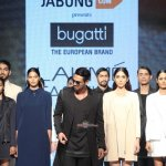 Arjun Rampal showcases a creation by designer Bugatti during Lakme Fashion Week Winter/Festive 2015
