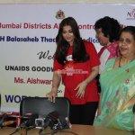 Aishwarya Rai Bachchan visits Cooper Hospital on World Aids Day