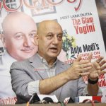 Anupam Kher at the launch of Society magazine cover