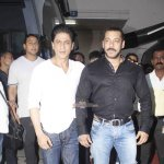 Shah Rukh Khan and Salman Khan snapped at the promo shoot of Bigg Boss Season 9
