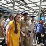 Jaya Prada snapped at Siddhivinayak Temple