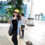 Urvashi Rautela and Mika Singh Snapped at Mumbai Domestic Airport