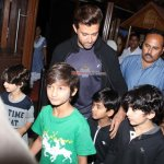 Hrithik Roshan with his Sons Spotted at Theatre to watch Hollywood Movie 'Inside Out'