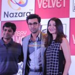 Ranbir Kapoor and Anushka Sharma at the launch of Bombay Velvet - The Game by Nazara Games