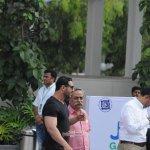 John Abraham, Abhishek Bachchan, Ranbir Kapoor, Amitabh Bachchan among other Celebs with CM Devendra Fadnavis at the opening football match at JIO Garden