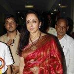 Hema Malini with author Sangeeta Bajpai during the launch of the book 'Choo Lein Aasman'