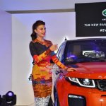 Jacqueline Fernandez at the launch of the new Range Rover Evoque at the Jaguar Land Rover showroom