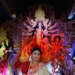 Bollywood Celebs attend North Bombay Sarbojanin Durga Puja 2015