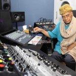 Sonu Nigam and Music Director Khayyam at film 'Gulam Bandhu' Song Recording