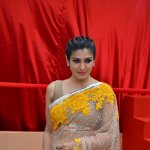 Raveena Tandon unveils World's Biggest Besan Ladoo at Andhericha Raja Ganpati Pandal