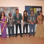B-Town stars and Urban Development Minister Ranjeet Patil at Vishnu Sonawane's art show inauguration
