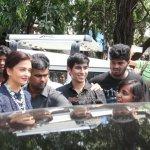 Aishwarya Rai Bachchan at Mithibai College for the Promotion of 'Jazbaa'
