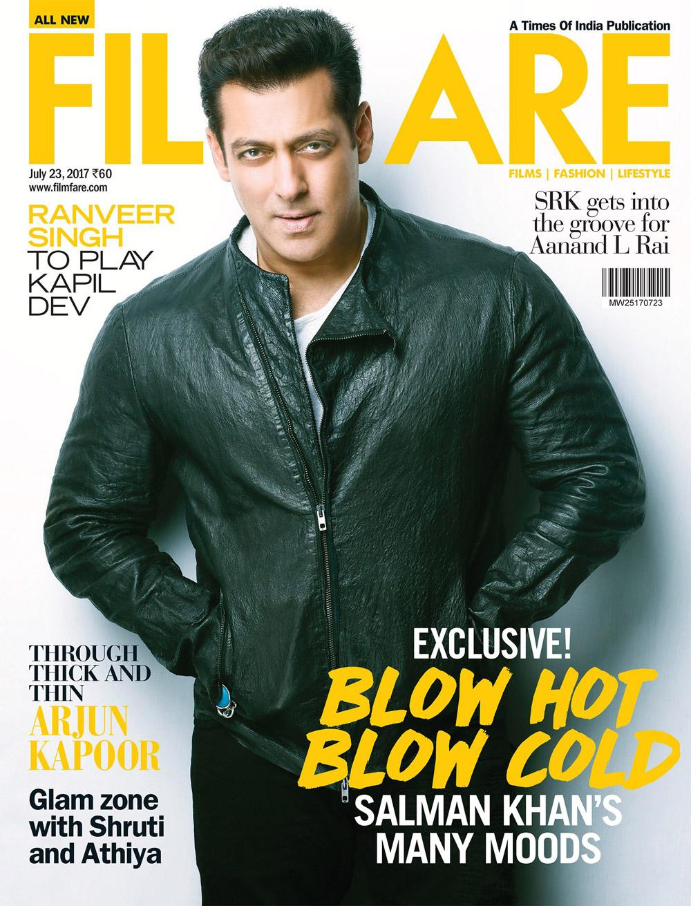 A Filmfare cover to watch out for! Salman Khan graces it in style!