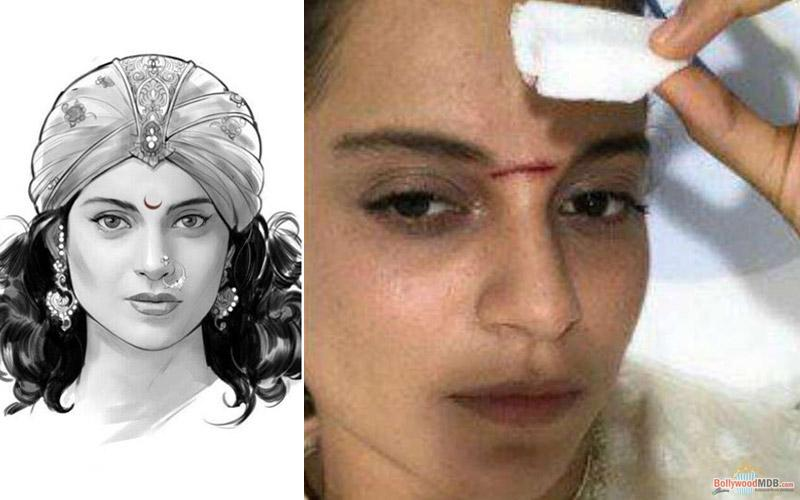 Manikarnika: Severely injured Kangana is thrilled to have a battle scar on her face!